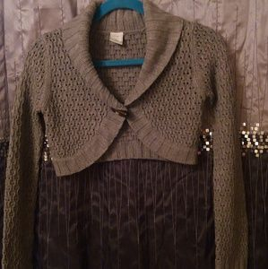 Old Navy Cropped One-Button Shrug Sweater SZ XL